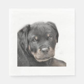 Rottweiler dog paper napkin