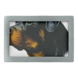 rottweiler dog rectangular belt buckle