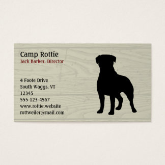 Rottweiler Dog Silhouette Business Card