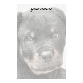 Rottweiler dog stationery design