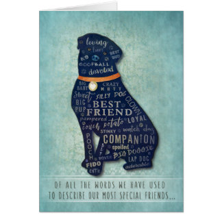 Rottweiler Dog Sympathy Card - Of all the Words