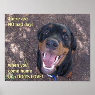 Rottweiler Dog's Love Poster