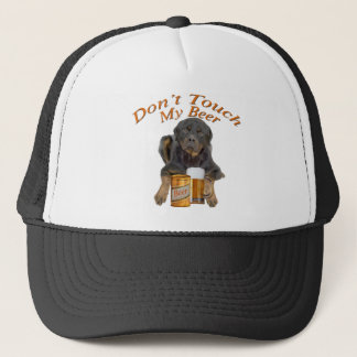 Rottweiler Don't Touch My Beer Trucker Hat