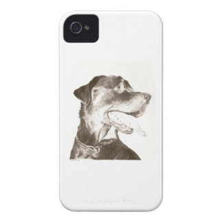 Rottweiler Drawing Canine Art Blackberry Case