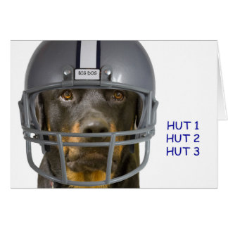 Rottweiler Football Dog Birthday Card