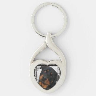 rottweiler-framed keychain