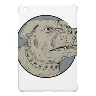 Rottweiler Guard Dog Head Aggressive Drawing Case For The iPad Mini