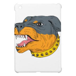 Rottweiler Guard Dog Head Aggressive Drawing iPad Mini Case