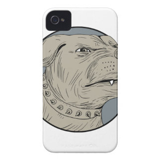 Rottweiler Guard Dog Head Aggressive Drawing iPhone 4 Case-Mate Case