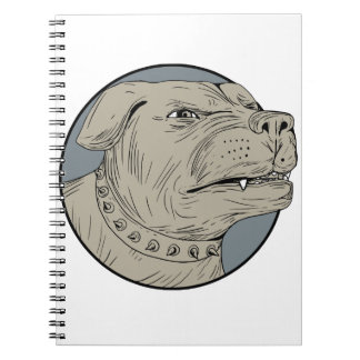 Rottweiler Guard Dog Head Aggressive Drawing Notebook
