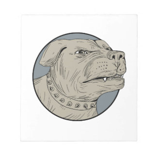 Rottweiler Guard Dog Head Aggressive Drawing Notepad