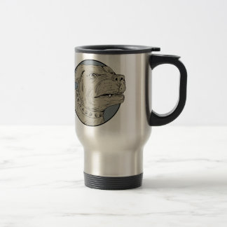 Rottweiler Guard Dog Head Aggressive Drawing Travel Mug