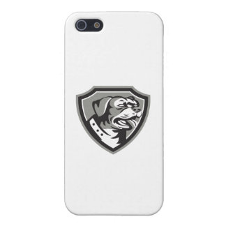 Rottweiler Guard Dog Shield Black and White iPhone 5/5S Case