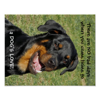 Rottweiler Happy Dog's Love Poster