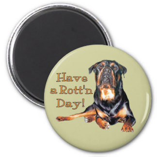 Rottweiler Have A Rotten Day Magnet