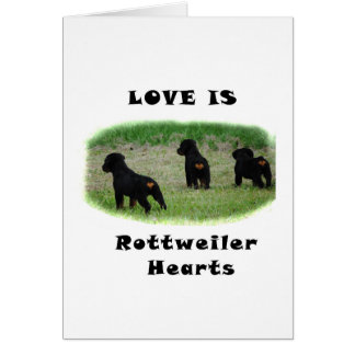 Rottweiler hearts card