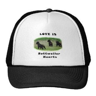 Rottweiler hearts trucker hat