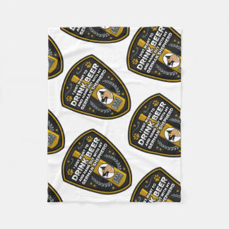 Rottweiler I Just Want To Drink Beer Fleece Blanket