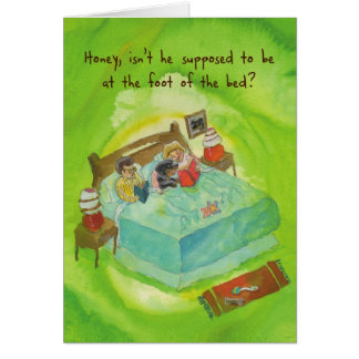 Rottweiler in Bed - Funny Birthday Card