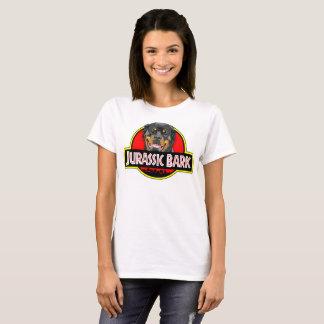 Rottweiler Jurassic Bark womens t-shirt