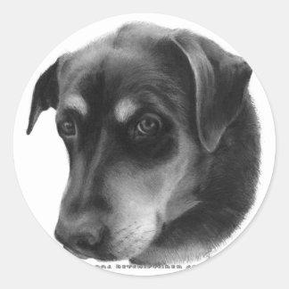 Rottweiler-Lab Mix Round Sticker