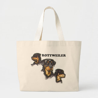 Rottweiler Large Tote Bag