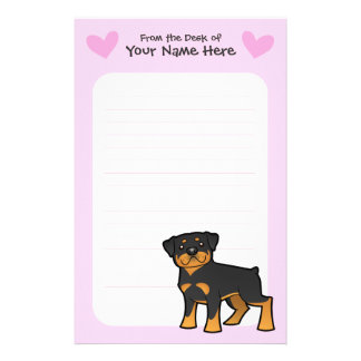 Rottweiler Love Personalized Stationery