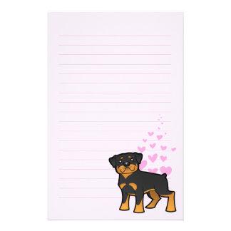 Rottweiler Love Stationery