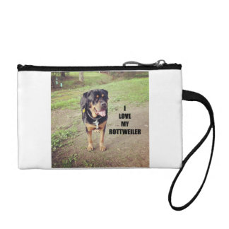 rottweiler love w pic tan coin purse