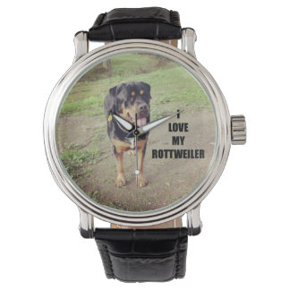 rottweiler love w pic tan watch