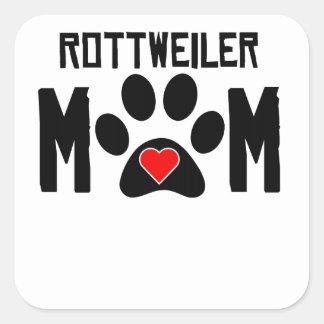 Rottweiler Mom Square Sticker