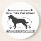 Rottweiler Mommy Designs Coaster