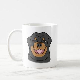 Rottweiler mug Happy Rottweiler mug Dog lover Mug