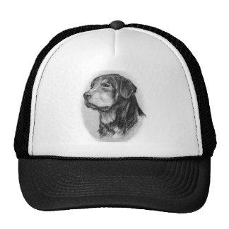Rottweiler original art by LN Pettey Trucker Hat