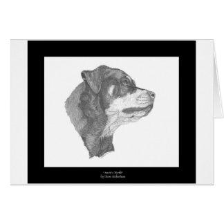 Rottweiler Pencil Art Notecard #2 DBD