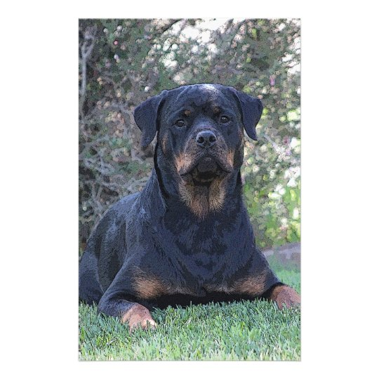 Rottweiler Personalized Stationery
