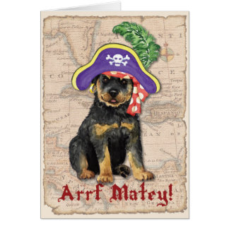 Rottweiler Pirate Card