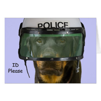Rottweiler Police Card by Focus for a Cause