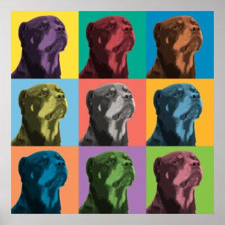 Rottweiler Pop-Art Poster