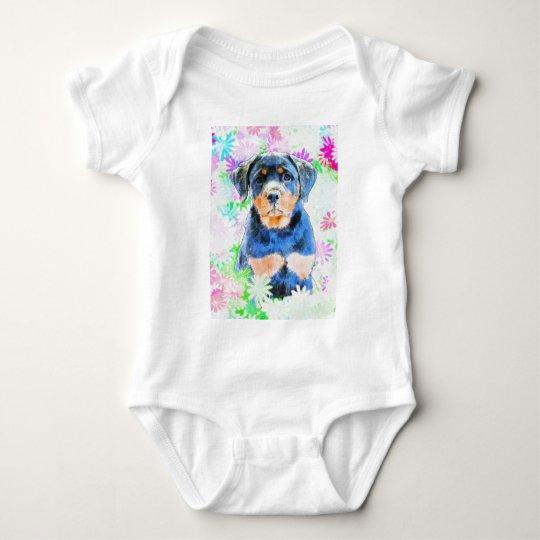 Rottweiler Puppy Baby Bodysuit