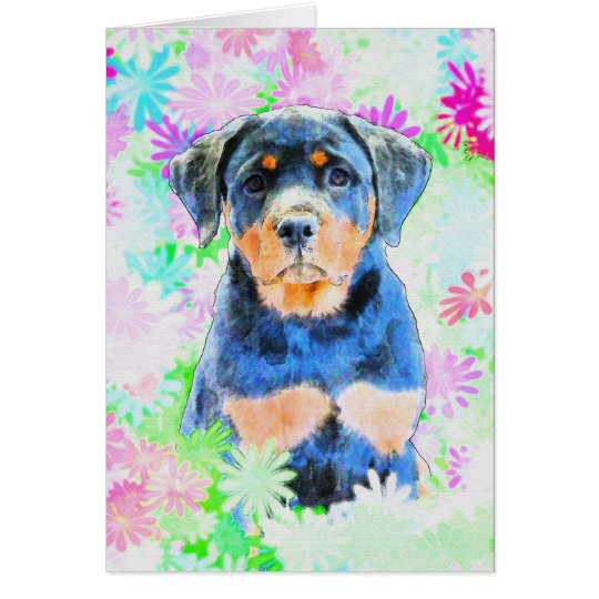 Rottweiler Puppy Card