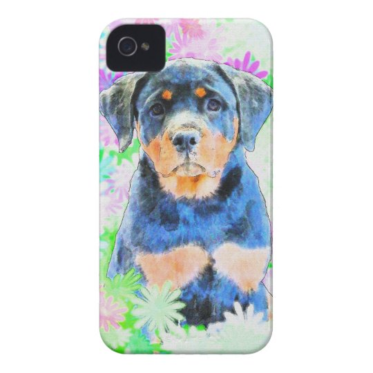 Rottweiler Puppy Case-Mate iPhone 4 Cases