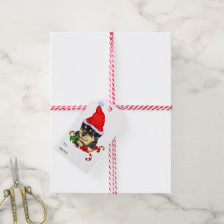 Rottweiler Puppy Christmas Gifts Pack Of Gift Tags