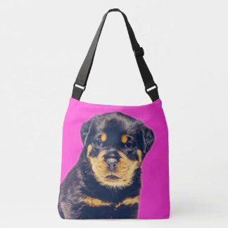 Rottweiler Puppy- Customizable Crossbody Bag