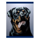 Rottweiler Puppy Dog Blank Postcard