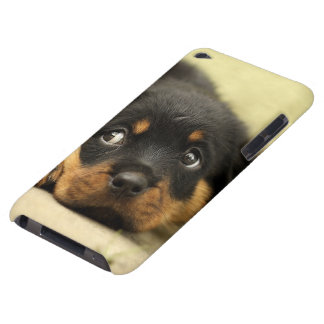 Rottweiler puppy dog curious barely there iPod case