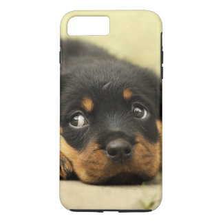 Rottweiler puppy dog curious Case-Mate iPhone case