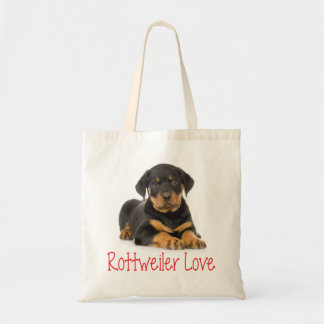 Rottweiler Puppy Dog Red Love Canine Tote