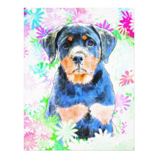 Rottweiler Puppy Letterhead