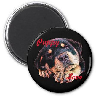 Rottweiler Puppy Love Rott Dog Canine German Breed Magnet
